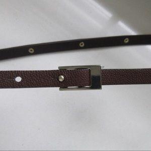 Accessories - 18'' Gold-studded Brown Belt